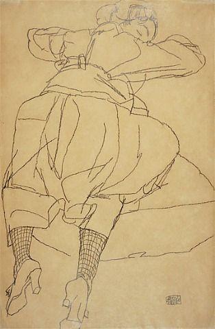 Sleeping Woman by Egon Schiele from Galerie St. Etienne: