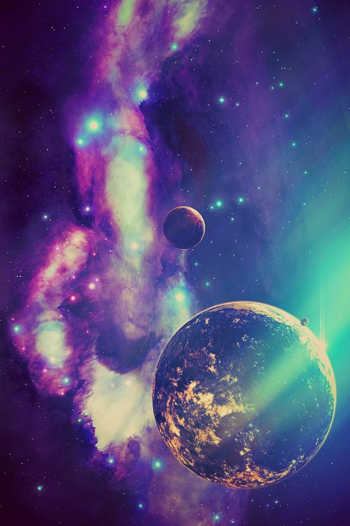 colorful galaxy planets and - photo #1