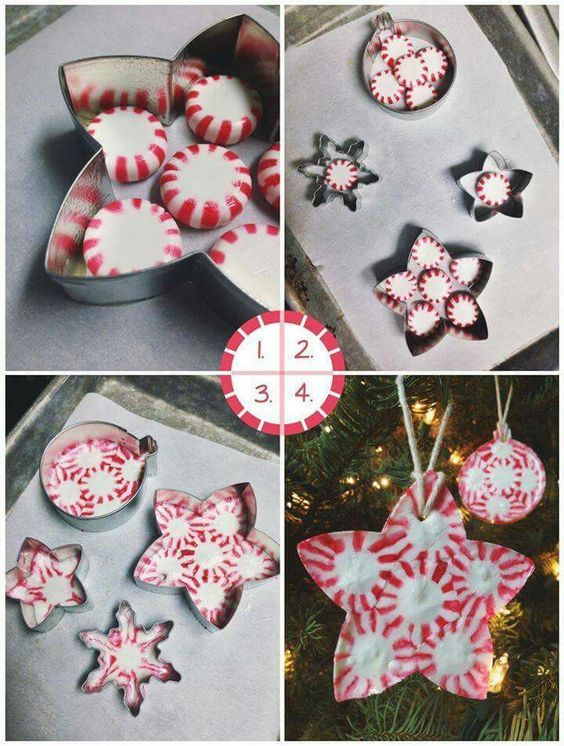 Peppermint Candy Ornaments...these are the BEST Christmas Ornament Ideas!