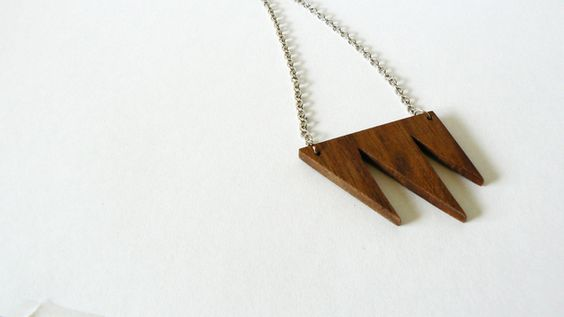 Wooden tag necklace