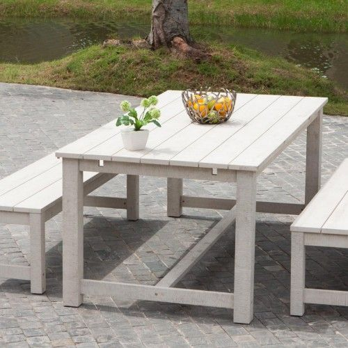 Schön Weiße Alu Gartenmöbel Bysteel Tisch Stühle Bank Pflanzkübel   Holz Stuhl  Bringt Exotischen Hauch Aus Fernen