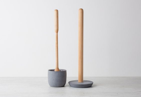 Iris Hantverk toiletborstel met houder - Comptoir des Objets