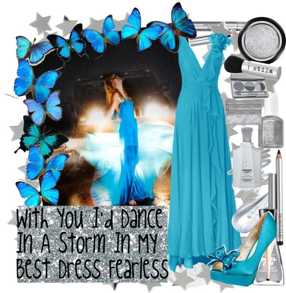 """""""With You I'd Dance In A Storm In My Best Dress Fearless"""" by Mandy on Polyvore"""