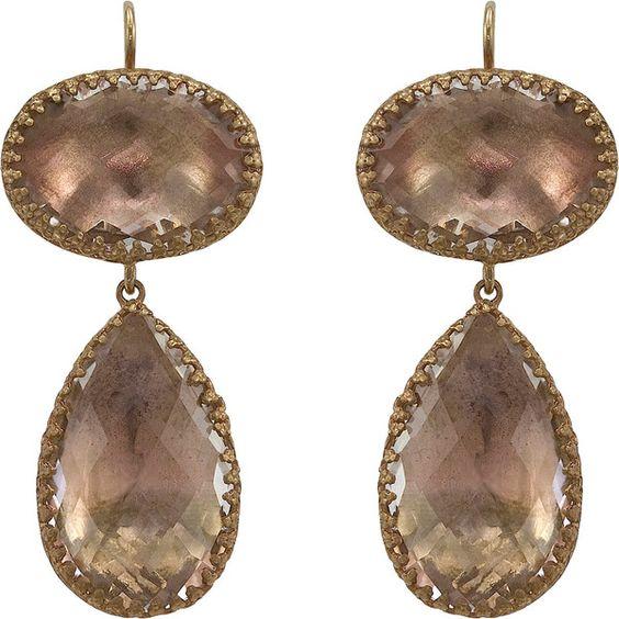 Larkspur & Hawk Topaz Lily Pendant Earrings ($1,900) `