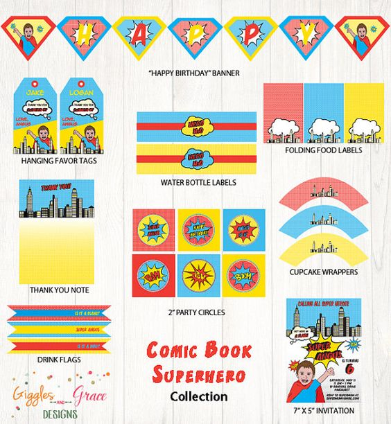 Superhero Theme | Life's Little CelebrationsLife's Little Celebrations