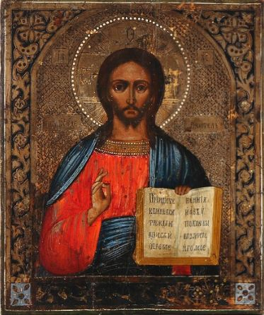 Russian icon of Christ Pantocrator (19th century)