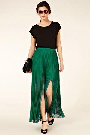 Pleat Maxi Skirt  $90.00