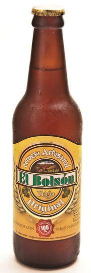 Cerveja El Bolsón Trigo, estilo German Weizen, produzida por Cervecería El Bolsón, Argentina. 5% ABV de álcool.