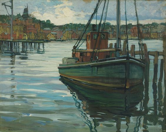 peterson, jane fishing boat at a mo | maritime | sotheby's n09484lot75m6ben: