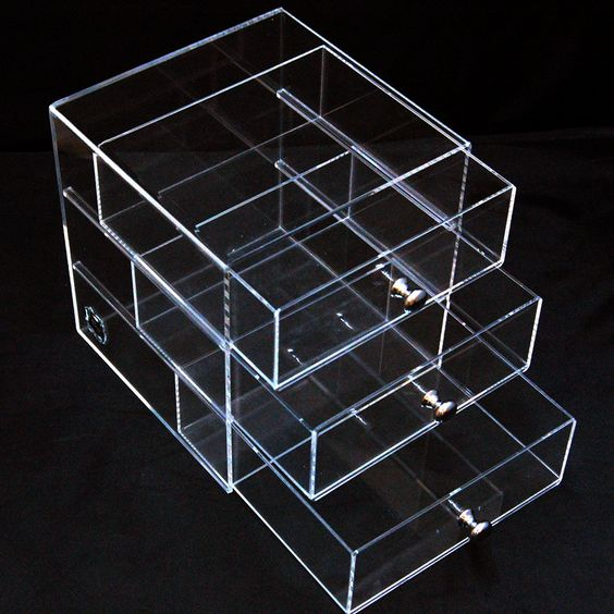 ICE3 CUBE Acrylic Makeup, Cosmetic & Jewelry Organizer 3D