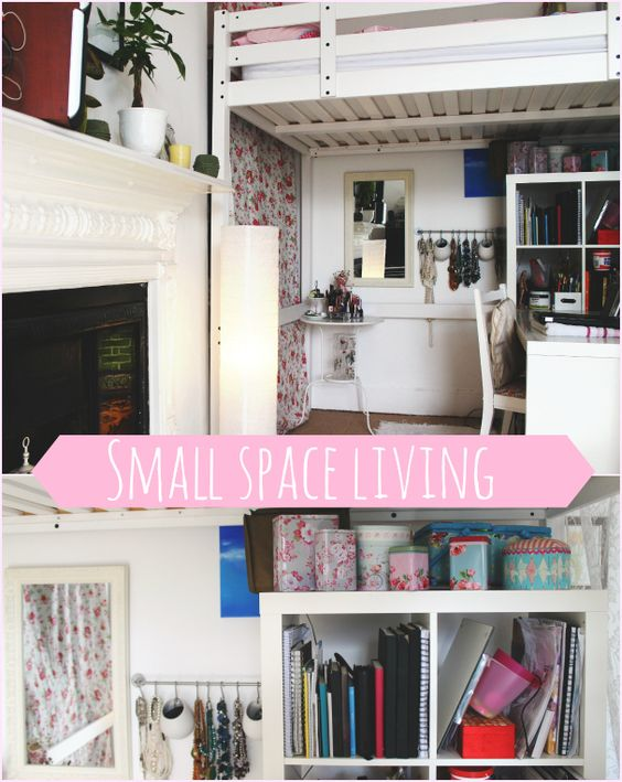 Beds for small spaces the closet and house on pinterest - Ikea ideas for small spaces pict ...