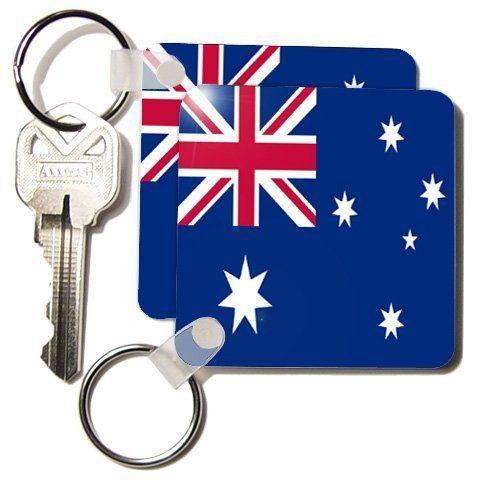 Australian Flag - Set Of 2 Key Chains ($9.99)