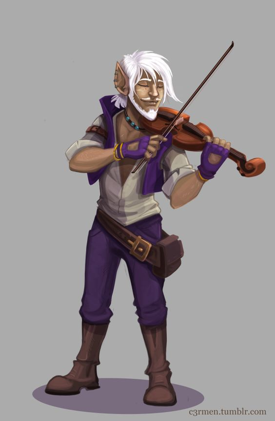 Second commission for Sheppard56 of his bard Zeke. Thank you!