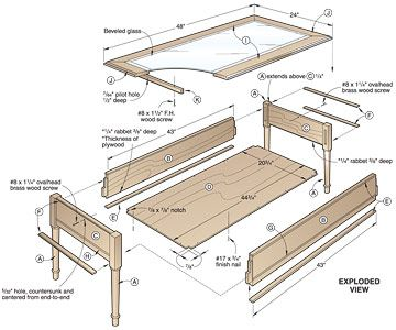 Display Coffee Table Plans How To Build A Display Coffee