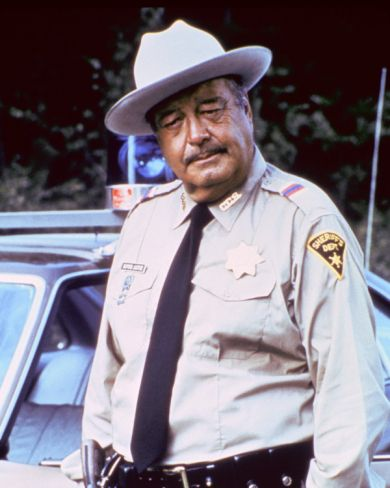 Jackie Gleason as Sheriff Buford T. Justice in the Smokey and the Bandit movies.
