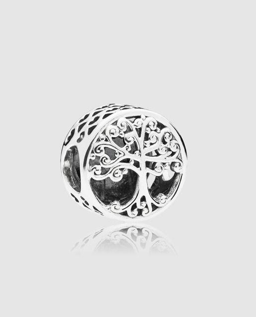 Pandora Charm En Plata De Ley Raíces Familiares Pandora Amuletos De Brazaletes De Pandora Pandora Plata De Ley