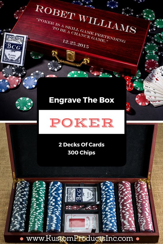 Engraved Poker Set, Custom Poker Set, 300 Chip Poker Set, Personalized Poker Set, Christmas Gift