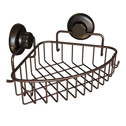 Hasko Accessories Corner Shower Caddy With Suction Cup 304