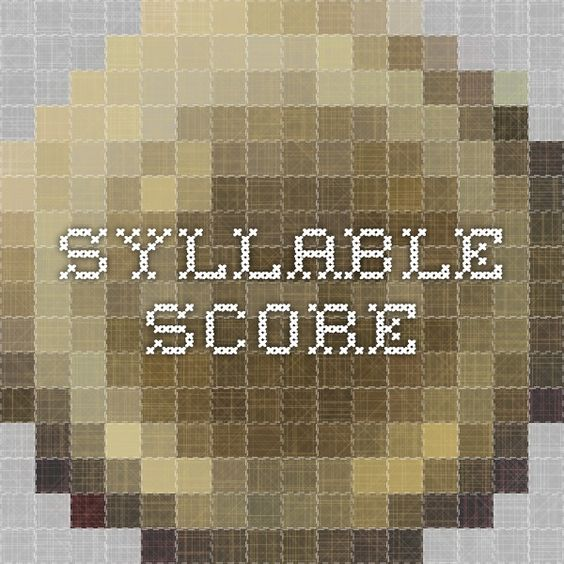 Syllable Score