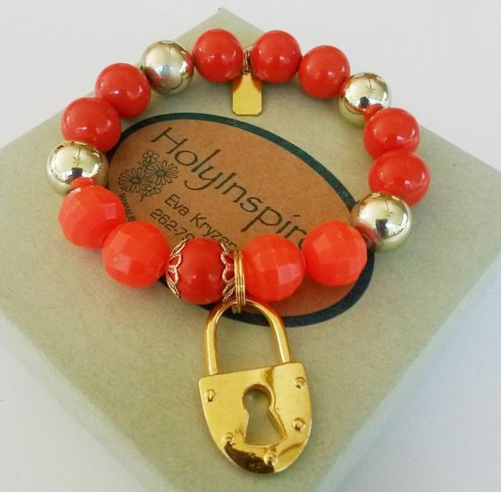 Hey, I found this really awesome Etsy listing at https://www.etsy.com/listing/248363475/upcycled-bright-orange-gold-tone-lock