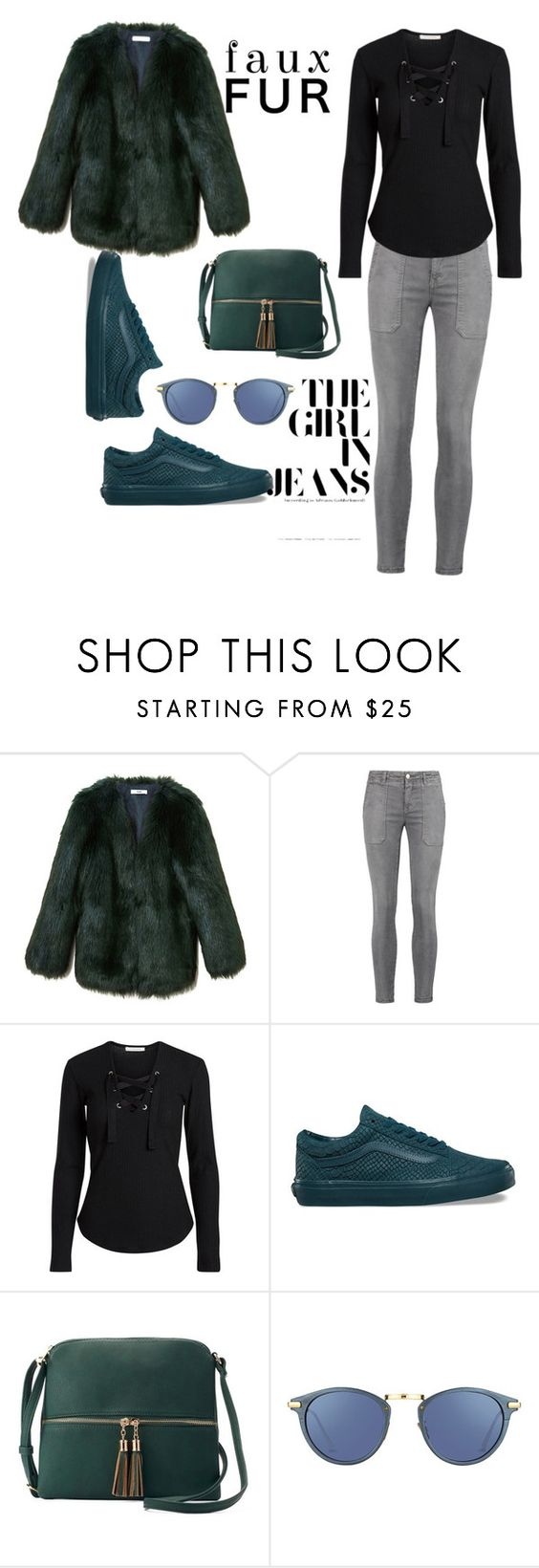 """""""Untitled #13"""" by starbuckssweetie ❤ liked on Polyvore featuring THP, Current/Elliott, Vans, Deluxity and Linda Farrow"""