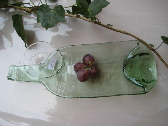 glas pottery flasche wein geschmolzen