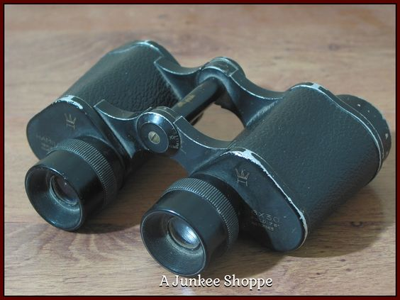 HAMILTON 6 x 30 Porro Binoculars Knockoff Of German Dienstglas 1962 Model   Junk0896  http://ajunkeeshoppe.blogspot.com/