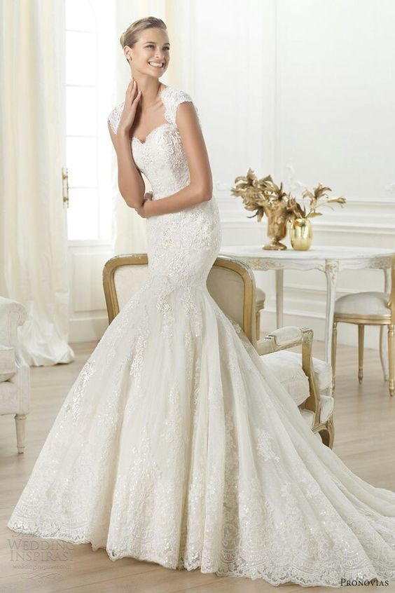 Pronovias 2015: Wedding Dresses 2014, Weddingdress, Mermaid Wedding Dresses, Wedding Gown, Cap Sleeve, Bridal Gowns, Dream Wedding