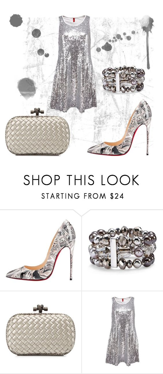 """""""Untitled #300"""" by srlangley on Polyvore featuring Christian Louboutin, Chico's and Bottega Veneta"""