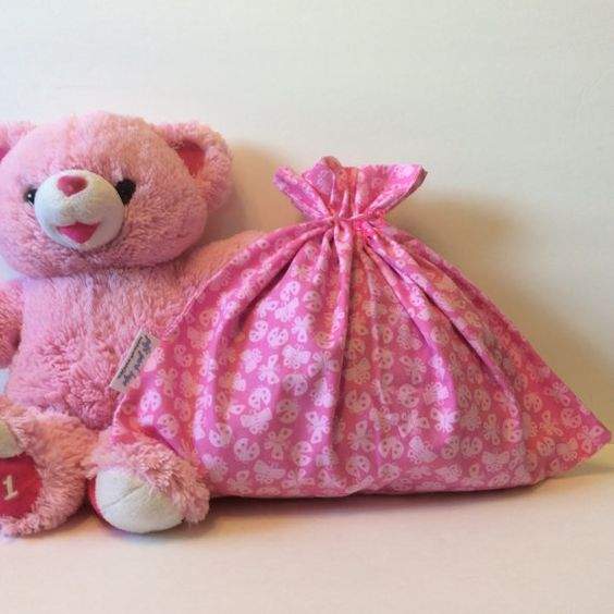 Pink Gift Bag  Baby Shower Gift Bag  Cloth Gift by GiftGarbBags