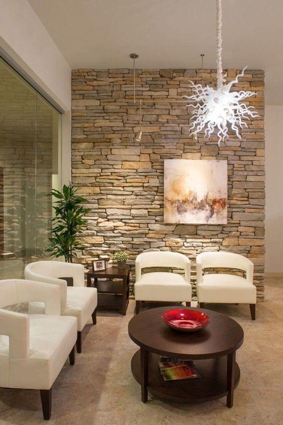 Curso De Como Decorar Con Piedra Tipos De Piedra Laja Waiting Room Design Waiting Room Decor Office Interior Design