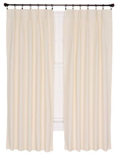 ellis curtain crosby thermal insulated 96 by 84 inch pinch pleated foamback patio panel natural. Black Bedroom Furniture Sets. Home Design Ideas
