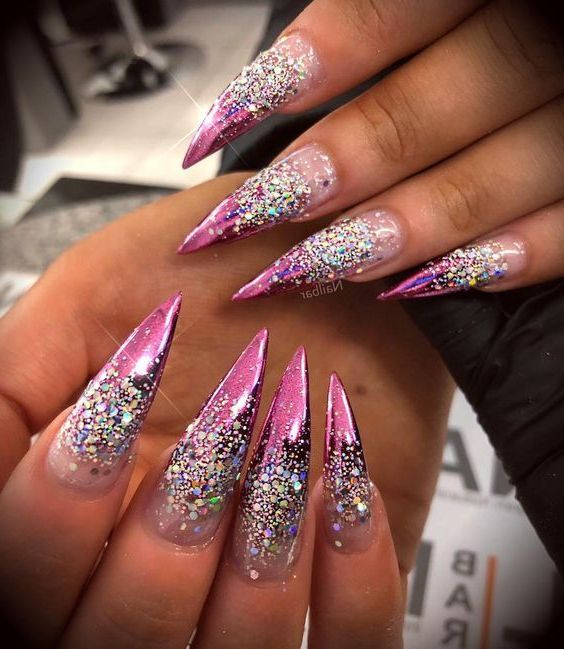 30 Best Stiletto Nail Art Designs 2019 Page 10 Of 33 With