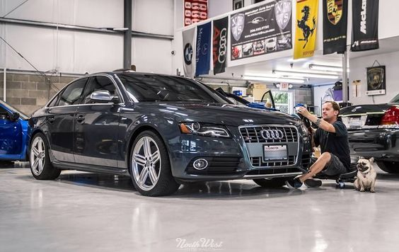 Olive is making the rounds for quality control & we're keeping the afternoon rolling with this Audi S4 that's in for a Full Detail!