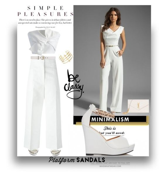 """""""SIMPLE PLEASURES"""" by beleev ❤ liked on Polyvore featuring Giambattista Valli, Marni, Chicwish, Gucci, BauXo, Yves Saint Laurent and platforms"""