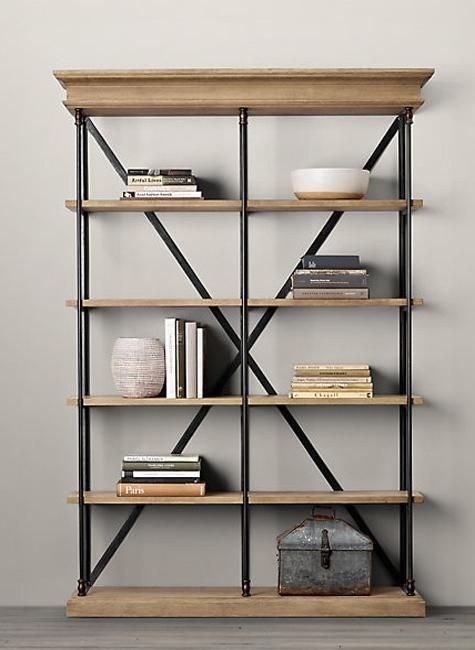 25 plumbing pipe shelving units that fit in with modern. Black Bedroom Furniture Sets. Home Design Ideas