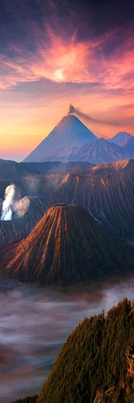 Bromo Mountain - East Java - Indonesia - Can this travel photo actually be real? Sometimes travel can take us to the most amazing places, we can hardly believe what is before our eyes.