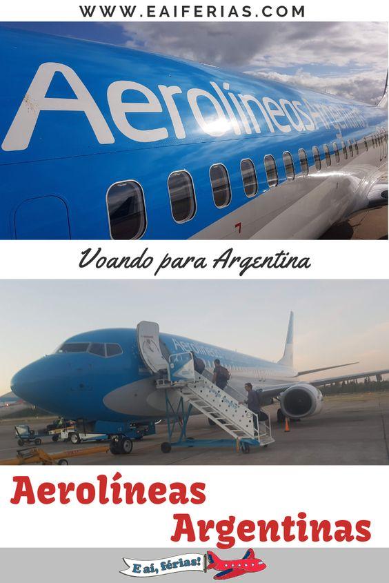 Voando para Argentina com a Aerolíneas Argentinas