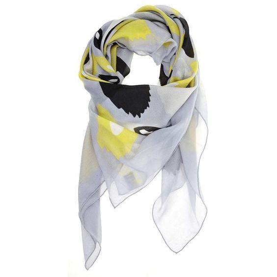 diane von furstenberg print braden scarf   Offtherunway via Polyvore