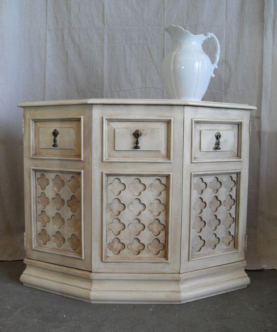 Annie Sloan Old White: Paint Ideas, Painted Furniture, Dark Wax, Alhambra Cabinet, Furniture Projects, Annie Sloan Chalk Paint, Painting Projects