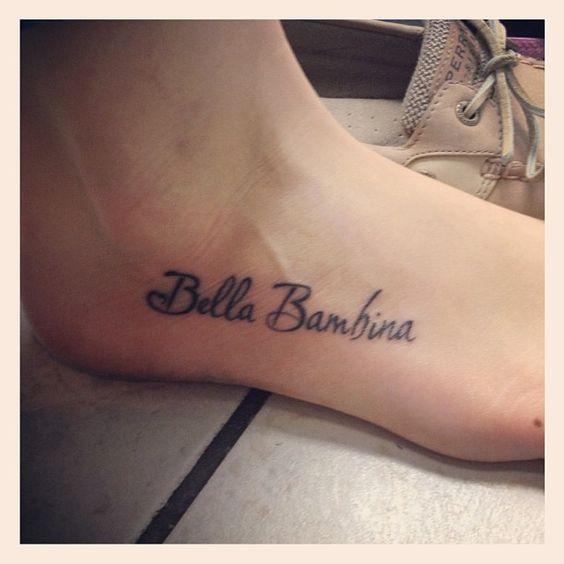 "Italian for ""Beautiful Baby"" <3"