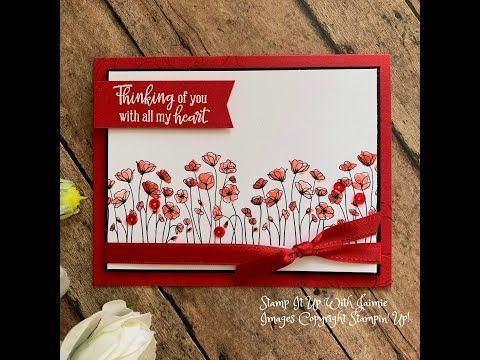 Stampin Up New Painted Poppies Card 2020 Mini Catalog Stampin Up Valentine Cards Stamping Up Cards Poppy Cards