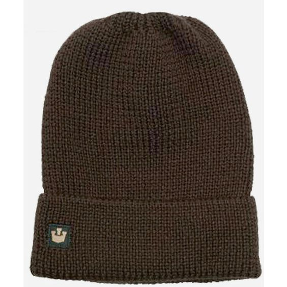 Goorin Capt'n Roll Cuff Beanie Hat - Brown ($12) ❤ liked on Polyvore featuring mens, men's accessories, men's hats and brown
