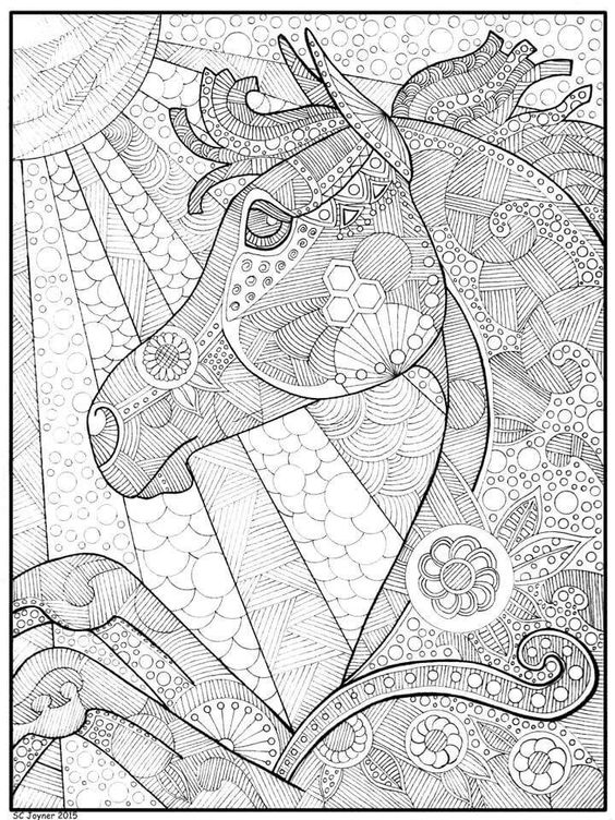 Horse coloring page horse colouring pages Pinterest Coloring - new animal coloring pages with patterns