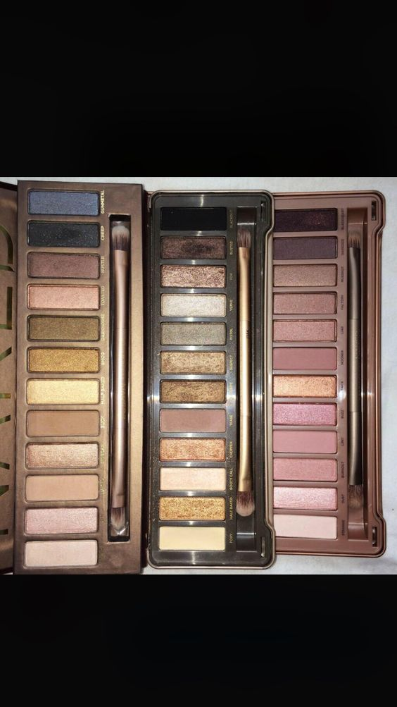 All three naked pallets