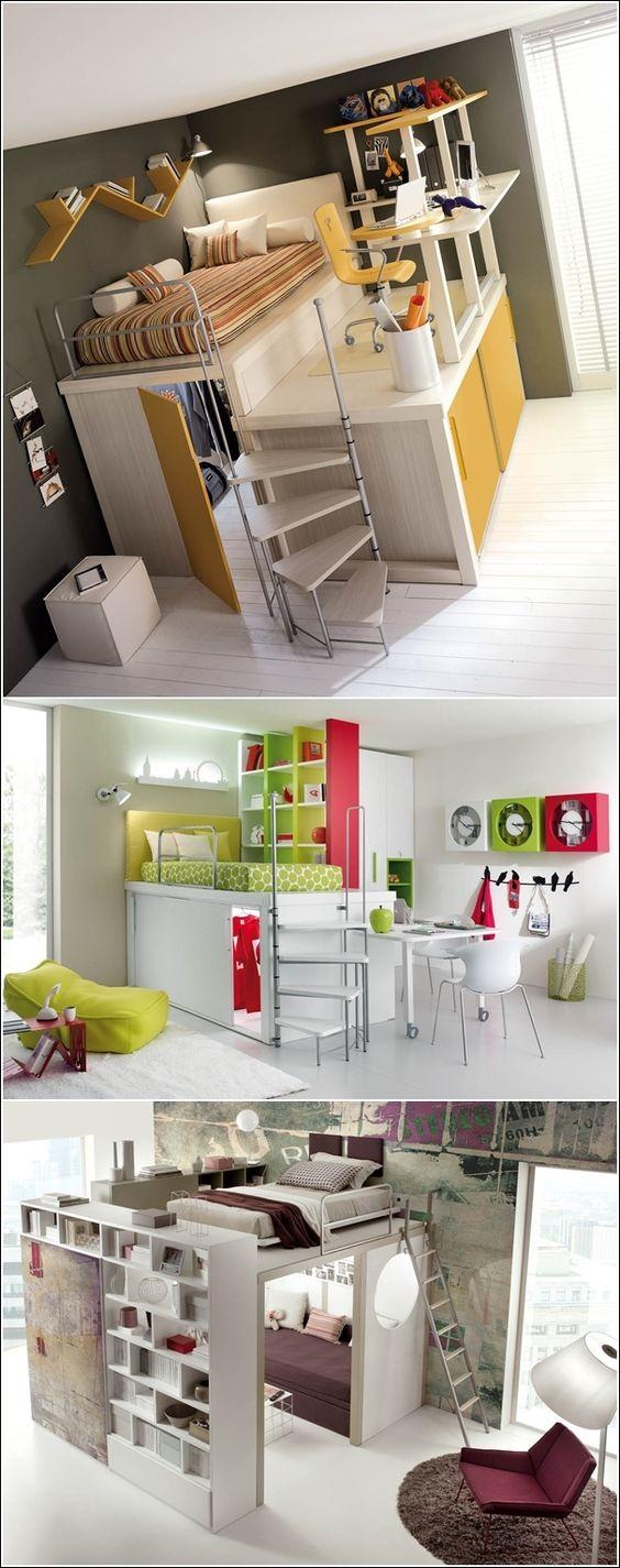 2ideas para ahorrar espacio en el dormitorio bedroom - Dormitorios para habitaciones pequenas ...