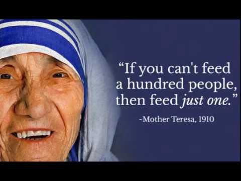 Mother Teresa Quotes About Humanity Love Care Kindness Charity