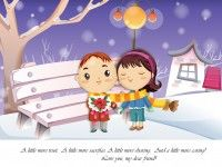 cute romantic cartoon friends wallpaper
