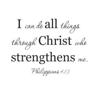 I can do all things through christ who strengthens me philippians 4:13 wall decal saying