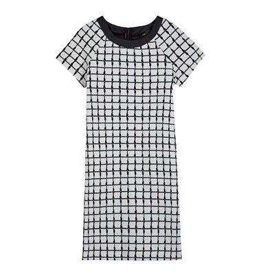 Jacquard mini boxy dress